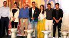 अक्षय कुमार, अनुपम खेर और भूमि पेडनेकर के साथ 'टॉयलेट- एक प्रेम कथा' की मीडिया मीट