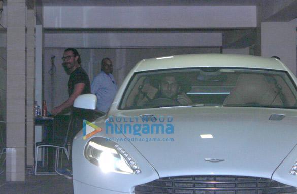 आमिर खान के घर पर नजर आए रणवीर सिंह