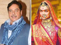 शत्रुघ्न सिन्हा ने पद्मावती विवाद पर अमिताभ बच्चन, आमिर खान और शाहरुख खान को लपेटे में लिया