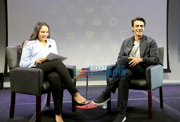 अर्जुन रामपाल ने कैलीफोर्निया में गूगल के मुख्यालय में अपनी फिल्म 'डेडी' का ट्रेलर लॉन्च किया