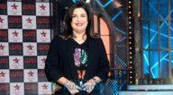 फ़राह खान अपने शो लिप सिंक बैटल के सेट पर आईं नजर