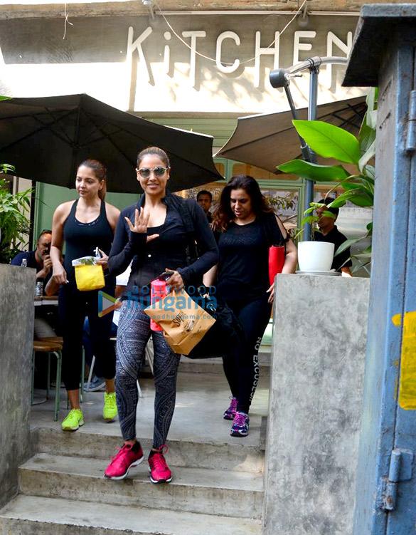 बिपाशा बसु और डैने पांडे बांद्रा स्थित किचन गार्डन में देखी गई