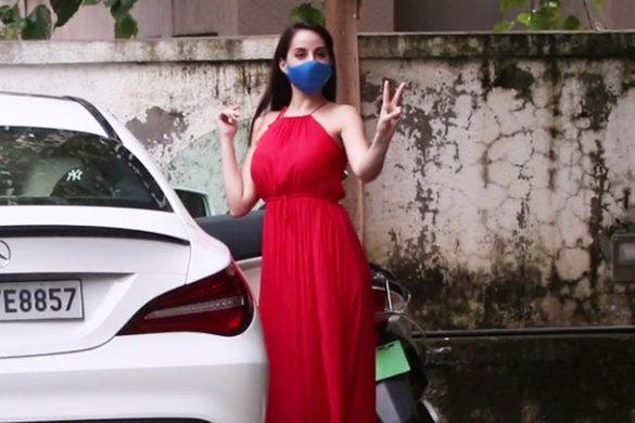 नोरा फ़तेही बांद्रा में नजर आईं