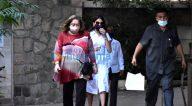 Photos: रणधीर कपूर, नीतू कपूर और अन्य बांद्रा में करीना कपूर खान के घर पर नजर आए