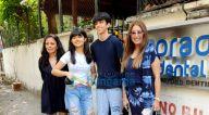 Photos: महिमा चौधरी अपने बच्चों के साथ जुहू के एक क्लीनिक में नजर आईं
