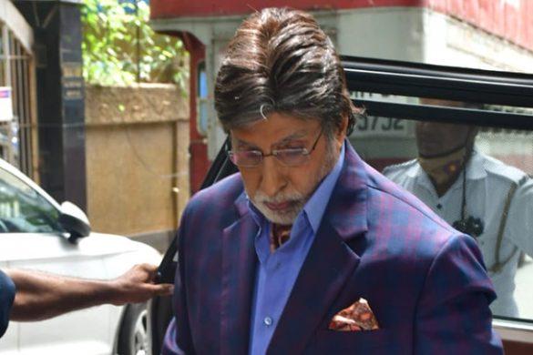 अमिताभ बच्चन बांद्रा में शूट के दौरान स्पॉट हुए
